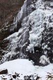 Vattenfall i vinter Arkivfoto