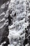 Vattenfall i vinter Arkivbilder