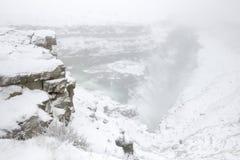 Vattenfall i vinter Royaltyfri Fotografi