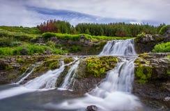 Vattenfall Island Royaltyfria Bilder