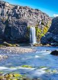 Vattenfall Island Fotografering för Bildbyråer