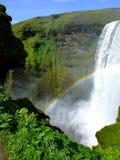 Vattenfall Island för Skà ³gafoss arkivfoton