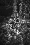 Vattenfall Kbal Spean i Cambodja royaltyfria bilder