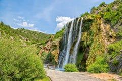 Vattenfall Krcic i Knin Royaltyfria Bilder