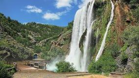 Vattenfall Krcic i Knin Royaltyfri Fotografi