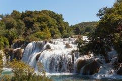 Vattenfall Krka nationalpark, Kroatien Fotografering för Bildbyråer