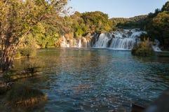 Vattenfall Krka nationalpark, Kroatien Arkivfoto
