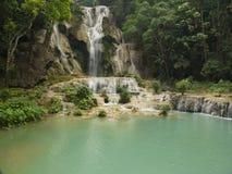 Vattenfall Kuang Si Royaltyfria Bilder