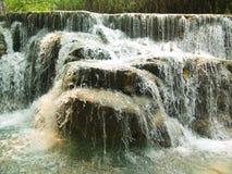 Vattenfall Kuang Si Fotografering för Bildbyråer