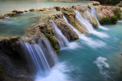 Vattenfall längs Havasu Fotografering för Bildbyråer