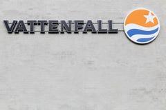 Vattenfall logo on a wall Stock Image
