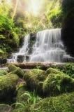 Vattenfall med stenen, Mundang vattenfall, Thailand Fotografering för Bildbyråer