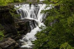 Vattenfall - min bytenedgångar - Catskill berg, New York Fotografering för Bildbyråer