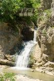 Vattenfall nära den Dryanovo kloster i Bulgarien Arkivbild