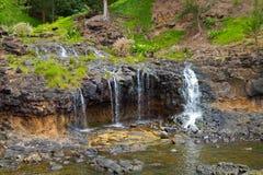 Vattenfall/nedgångar i Kauai, Hawaii Arkivbild