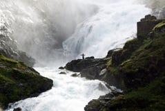 Vattenfall Norge Royaltyfria Bilder