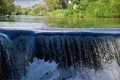 Vattenfall norr Israel royaltyfri fotografi