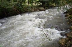 Vattenfall och ånga Royaltyfria Bilder