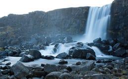 Vattenfall och forsar i Island Royaltyfri Fotografi