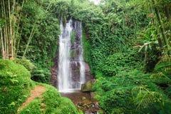 Vattenfall på ön av Bali Royaltyfria Foton