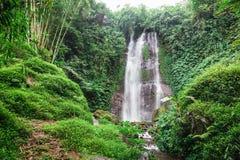 Vattenfall på ön av Bali Arkivfoto