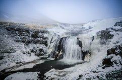 Vattenfall på is Royaltyfri Bild