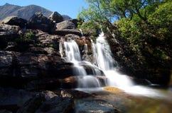 Vattenfall på Arran, Skottland Royaltyfri Fotografi