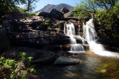 Vattenfall på Arran, Skottland Royaltyfria Bilder