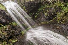 Vattenfall på berget Royaltyfria Bilder