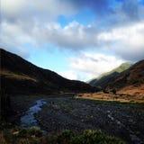 Vattenfall på berget Royaltyfria Foton
