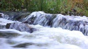 Vattenfall på den vita bakgrunden lager videofilmer