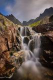 Vattenfall på den Zlomiskovà ¡ dolinaen Fotografering för Bildbyråer