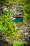 Vattenfall på fetipsen på ön av Skye i Skottland Royaltyfri Fotografi