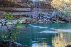 Vattenfall på Hamilton Pool Arkivfoto