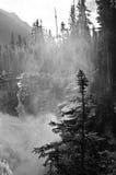 Vattenfall på jasperen NP Arkivbilder