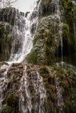 Vattenfall på Monasterio de Piedra, Zaragoza, Aragon, Spanien Royaltyfria Bilder