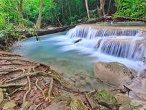 Vattenfall på nationalparken i Thailand Royaltyfria Bilder