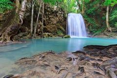 Vattenfall på nationalparken i Thailand Arkivfoton