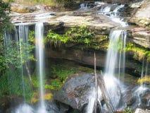 Vattenfall på phukadeng Arkivfoto
