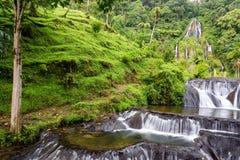 Vattenfall på Santa Rosa de Cabal, Colombia royaltyfri bild