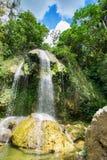 Vattenfall på Soroa i västra Kuba royaltyfri bild