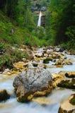 Vattenfall Pericnik, Triglav nationalpark, Slovenien Arkivbild