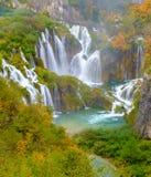 Vattenfall Plitvice sjöarna Arkivbilder