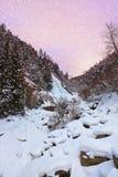 Vattenfall Stuibenfall på Umhausen - Tirol Österrike Fotografering för Bildbyråer