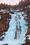 Vattenfall Stuibenfall på Umhausen - Tirol Österrike Royaltyfri Bild