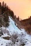 Vattenfall Stuibenfall på Umhausen - Tirol Österrike Arkivbilder