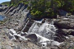 Vattenfall Torbay NL för rörelseflodkaskad Royaltyfri Fotografi