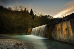 Vattenfall Torre Tarcento (Italien) Fotografering för Bildbyråer