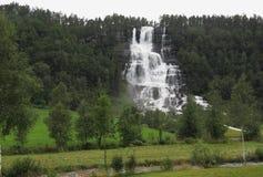 Vattenfall Tvindefossen Arkivbilder