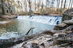 Vattenfall vid mala Royaltyfri Fotografi